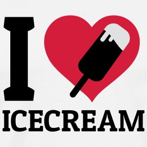 I love Icecream jeg elsker is Toppe - Herre premium T-shirt