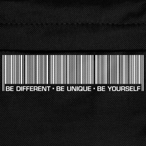 Männer T-Shirt Be different be unique be yourself - Kinder Rucksack