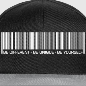 Männer T-Shirt Be different be unique be yourself - Snapback Cap