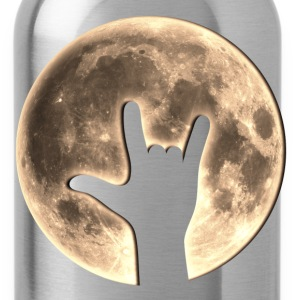 Rock Moon, Hand, Party, Music, Earth Day, Yeah T-S - Trinkflasche