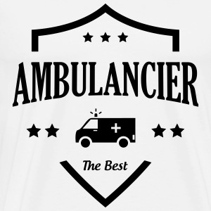 Ambulancier / Ambulance / Hôpital / Médecin  Aprons - Men's Premium T-Shirt