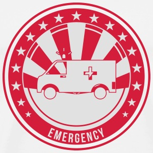 EMT / Ambulance / Emergency / Doctor / Hospital Buttons - Men's Premium T-Shirt