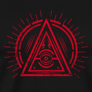 Illuminati - All Seeing Eye - Satan / Black Symbol Tanktoppar - Premium-T-shirt herr