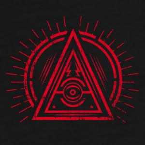 Illuminati - All Seeing Eye - Satan / Black Symbol Petten & Mutsen - Mannen Premium T-shirt