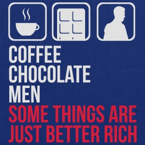 COFFEE CHOCOLATE MEN BETTER RICH WOMEN T-SHIRT - Tote Bag