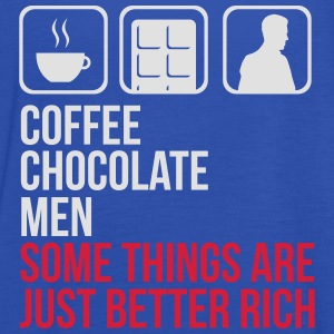 COFFEE CHOCOLATE MEN BETTER RICH WOMEN T-SHIRT - Women's Tank Top by Bella