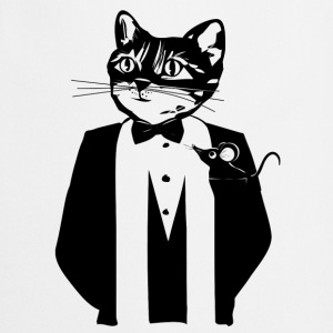 Cat in a tuxedo Buttons - Cooking Apron