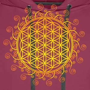 FLOWER OF LIFE, SPIRITUAL SYMBOL, SACRED GEOMETRY T-Shirts - Men's Premium Hoodie