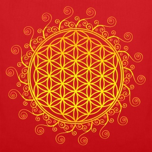 FLOWER OF LIFE, SPIRITUAL SYMBOL, SACRED GEOMETRY T-Shirts - Tote Bag