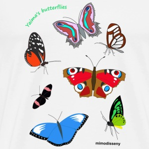 Yaima's butterflies Mugs & Drinkware - Men's Premium T-Shirt