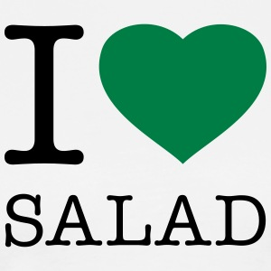 I LOVE SALAD  Aprons - Men's Premium T-Shirt
