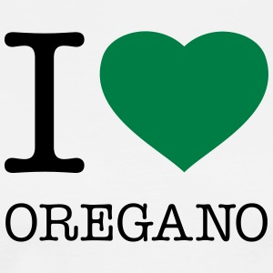 I LOVE OREGANO  Aprons - Men's Premium T-Shirt