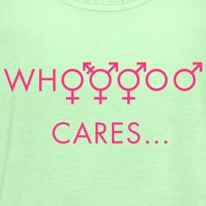 Who cares about gender T-Shirts - Women's Tank Top by Bella