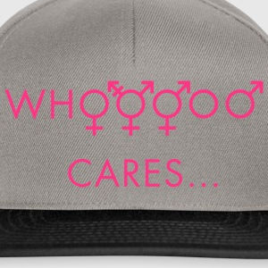 Kelly grønn Who cares about gender T-skjorter - Snapback-caps