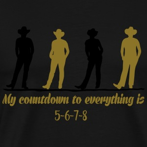 Line dance countdown Long sleeve shirts - Men's Premium T-Shirt