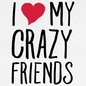 I (Heart) My Crazy Friends Topy - Czapka z daszkiem