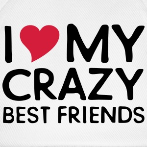 I (Heart) My Crazy Friends T-shirts - Basebollkeps