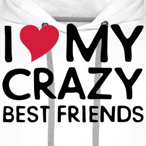 I (Heart) My Crazy Friends T-shirts - Premiumluvtröja herr