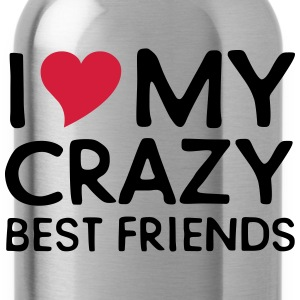 I (Heart) My Crazy Friends Koszulki - Bidon