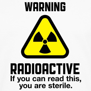 Attention: Radioactivity  Aprons - Men's Premium Longsleeve Shirt