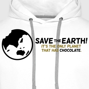 Save the planet. There is chocolate! Long sleeve shirts - Men's Premium Hoodie