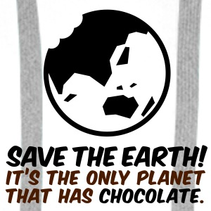Save the planet. There is chocolate! Bags & Backpacks - Men's Premium Hoodie