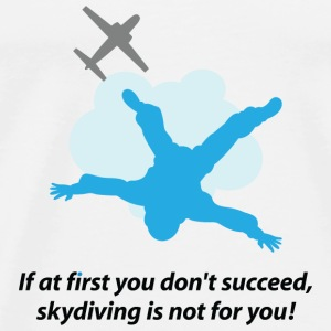 Unlucky should not go skydiving Tops - Men's Premium T-Shirt