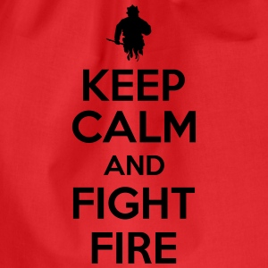 Keep calm and fight fire Tanktops - Gymtas
