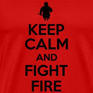 Keep calm and fight fire Tanktops - Mannen Premium T-shirt