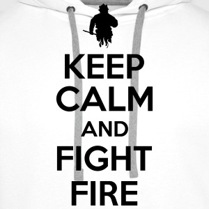 Keep calm and fight fire T-Shirts - Männer Premium Hoodie