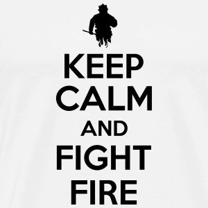 Keep calm and fight fire Tank Tops - Men's Premium T-Shirt