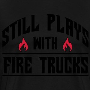 Still plays with fire trucks Gensere - Premium T-skjorte for menn