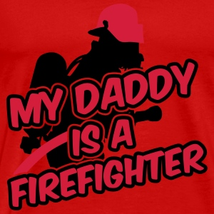My daddy is a firefighter Long Sleeve Shirts - Men's Premium T-Shirt