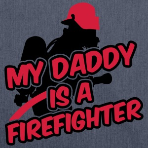 My daddy is a firefighter Shirts - Schoudertas van gerecycled materiaal