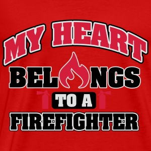 My heart belongs to a firefighter Tops - Camiseta premium hombre