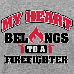My heart belongs to a firefighter Tops - Men's Premium T-Shirt
