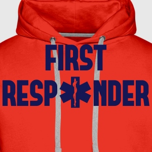first responder T-Shirts - Men's Premium Hoodie