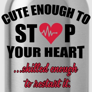 Cute enought to stop your heart - Paramedic Skjorter med lange armer - Drikkeflaske