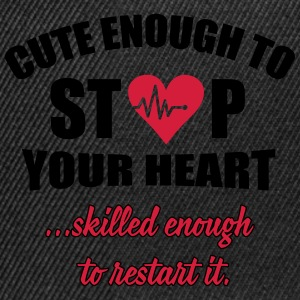 Cute enought to stop your heart - Paramedic Maglie a manica lunga - Snapback Cap