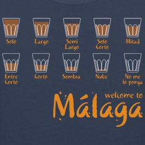 Welcome to Malaga (blue) T-Shirts - Männer Premium Tank Top