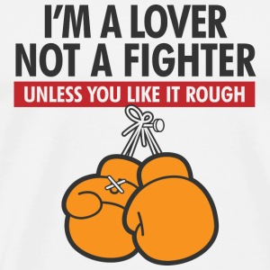 I m a lover, not a fighter! Bags & Backpacks - Men's Premium T-Shirt