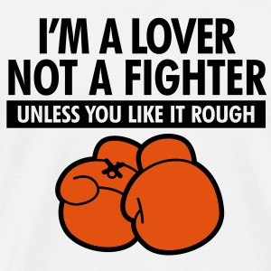 I m a lover, not a fighter! Polo Shirts - Men's Premium T-Shirt