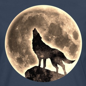 Howling Wolf, full moon, wolves, native, Indians T - Men's Premium Longsleeve Shirt