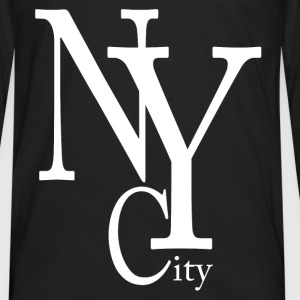 New York City blanc Tee shirts - T-shirt manches longues Premium Homme