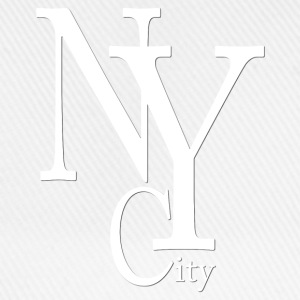 New York City blanc2 Tee shirts - Casquette classique