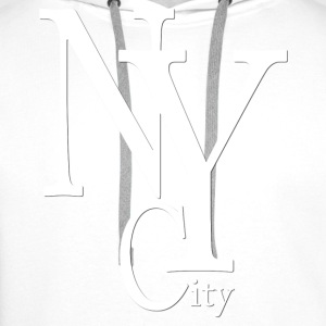 New York City blanc2 Tee shirts - Sweat-shirt à capuche Premium pour hommes