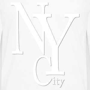 New York City blanc2 Tabliers - T-shirt manches longues Premium Homme