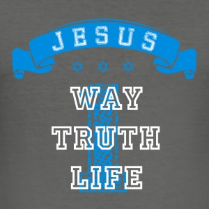 One Way Truth Life Bags & Backpacks - Men's Slim Fit T-Shirt