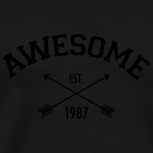 Awesome Est 1987 Tank Tops - Herre premium T-shirt