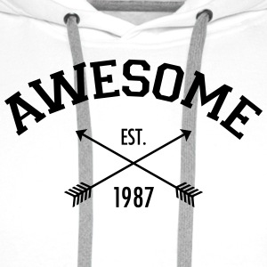 Awesome Est 1987 T-Shirts - Men's Premium Hoodie
